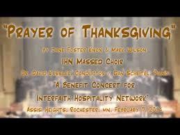 prayer of thanksgiving wilson ihn rochester mn massed