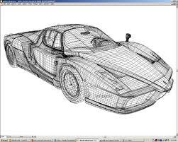 ferrari enzo sketch vector gradient mesh project 2 ferrari enzo