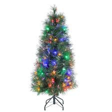 sterling 4 ft pre lit multicolored fiber optic artificial