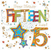 thirteen today 13th birthday greeting card cards love kates