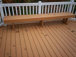 composite decking vinyl railings with lighting and bench in st