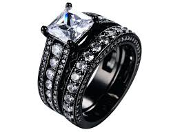 his and hers black wedding rings cheap black wedding ring sets his and hers black