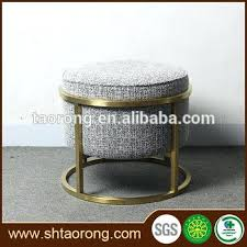 tufted fabric beige round storage ottoman tag round fabric