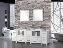 84 inch bathroom vanity modern los angeles with ceramic sink