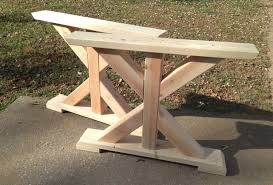 Farmhouse Kit Mesmerizing Farmhouse Trestle Table 10 Trestle Farmhouse Table Diy