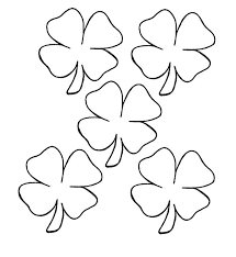 4 leaf clover template four leaf clover coloring page ziho coloring