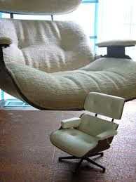 my full size eames knock off chair and an eames miniature