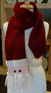 bufandas mis tejidos tejer en navidad manualidades navidenas bufanda knitted santa scarf pattern by christy fisher tejido navidad y