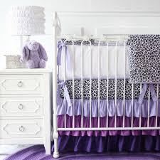 Girly Crib Bedding Girly Purple Leopard Ruffle Crib Bedding Set By Caden