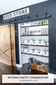 Pnatry Farmhouse Kitchen Pantry Organization Simply Kierste Design Co