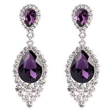purple drop earrings purple drop earrings