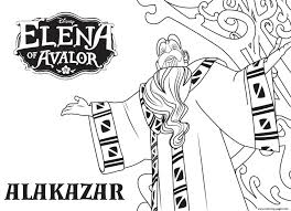 elena avalor alakazar disney princess coloring pages printable