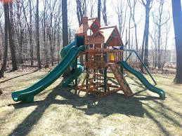 exterior wooden swing set ideas with gorilla playset for your
