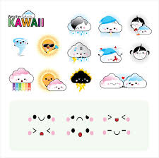 imagenes de caritas kawai iconos del clima estilo kawaii ai kabytes