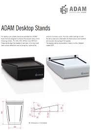 adam audio ax ds desktop speaker stands pair computer lounge