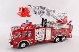 fire truck halloween basket amazon com litzpy fire engine truck with big hook and ladder