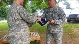 Fold Flag Military Style Honor Guard Training Folding The American Flag With Two People