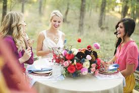 bridal luncheon bridesmaids luncheon ideas ruffled