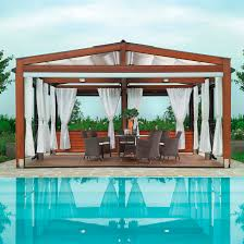 self supporting pergola wooden with sliding canopy