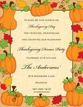 thanksgiving invitations thanksgiving invitation