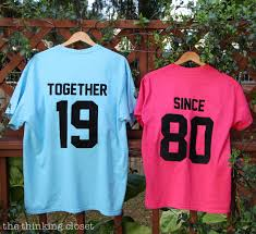 40 year anniversary gift ideas together since t shirts such a great idea for an anniversary