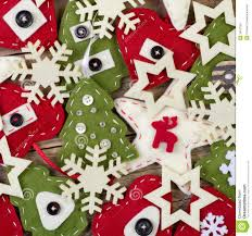 christmas handmade felt decoration stock image image 34197961