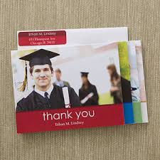 graduation thank you card personalized photo graduation thank you cards