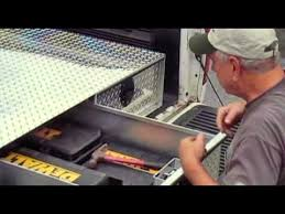 Slide Out Truck Bed Tool Boxes The Ultimate Truck Bed Tool Box By Truck Tool Box Com Youtube