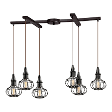 Multi Pendant Lighting Fixtures Elk 14191 6 Yardley Vintage Rubbed Bronze Multi Pendant Light