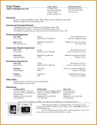 theatrical resume format 11 theatre resume format resume cover note
