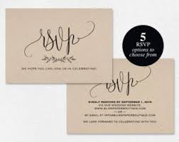 rsvp cards for wedding wedding rsvp card etsy