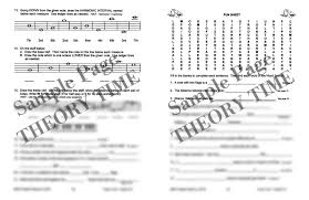 theory time grade five workbook hardcopy workbook piano
