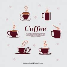 Types Of Coffee Mugs Selection Of Different Coffee Cups Vector Free Download