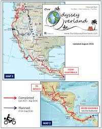 North And Central America Map by Maps Our Odyssey Overland