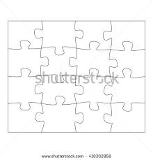 template paper thinking puzzles games business stock vector