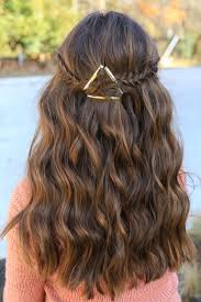 barrette tieback cute girls hairstyles hair pinterest