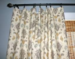 Blue Ikat Curtain Panels Grey Blue Yellow Ivory Ikat Curtain Panel Custom Designer