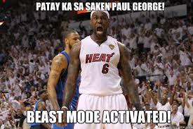 Paul George Memes - patay ka sa saken paul george beast mode activated lebron