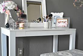 ikea makeup vanity hack furniture makeuptable design with black top on white base