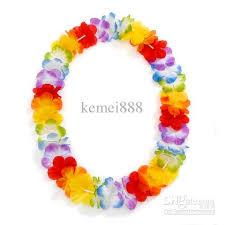 flower necklace images Hawaii lei wreath silk flower lei party supplies 36pr garland jpg