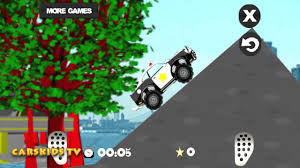 monster trucks video games police monster truck video jumps crashes accident toy for kids