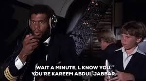 kareem abdul jabbar airplane movie gif find share on giphy