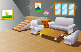 interior of a house living room royalty free cliparts vectors