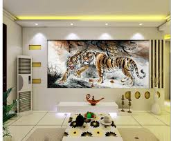 online get cheap tiger wall mural aliexpress com alibaba group 3d wall murals wallpaper home decoration tiger painting wallpapers for living room customized wallpaper for walls