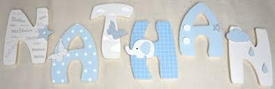 lettres pour chambre bébé lettres en bois et tissu prénom pour chambre bebe et enfant