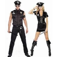 Police Woman Halloween Costume Free Shiping Halloween Costume Men Women Police Uniforms