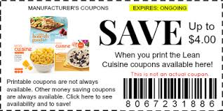 lean cuisine coupons manufacturer coupons
