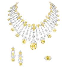 yellow diamond necklace images Boghossian at the biennale des antiquaires fancy diamond and jpg