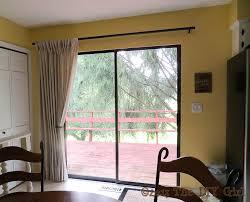 curtain rod for sliding glass door curtain rods pinterest