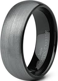 Workout Wedding Rings by Jstyle Jewelry Tungsten Rings For Men Wedding Band Black Ring 8mm